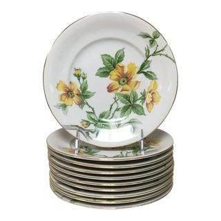 Meito Japan Yellow Sun Glory Salad/Dessert Plates Set 10 For Sale