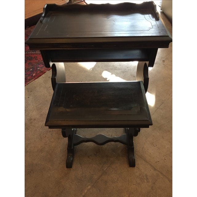Vintage Writing Desk and Nesting Bench - Image 7 of 11