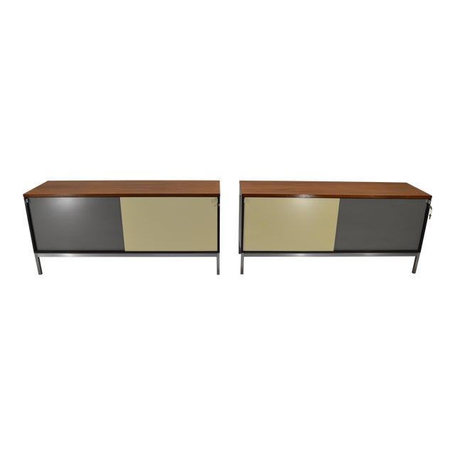 Art Metal for Knoll Int. Mid-Century Office Cabinets - A Pair - Image 1 of 10
