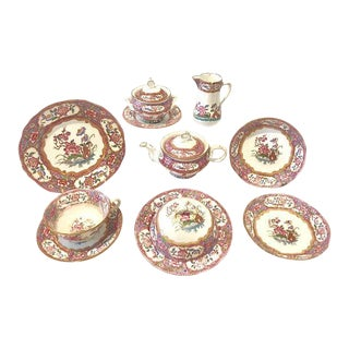 Antique Minton Tea and Plate Set - 13 PC.