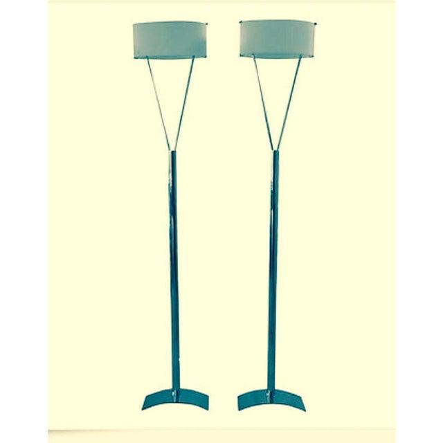 Italian Leucos Floor Lamps - Pair - Image 2 of 5