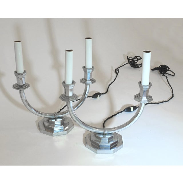 Mid-Century Modern French Mid-Century Mantle Lamps - a Pair For Sale - Image 3 of 3