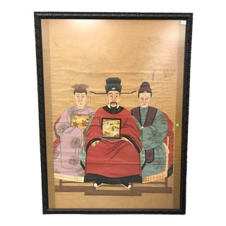 Large Chinese Ancestral Original Framed Painting For Sale