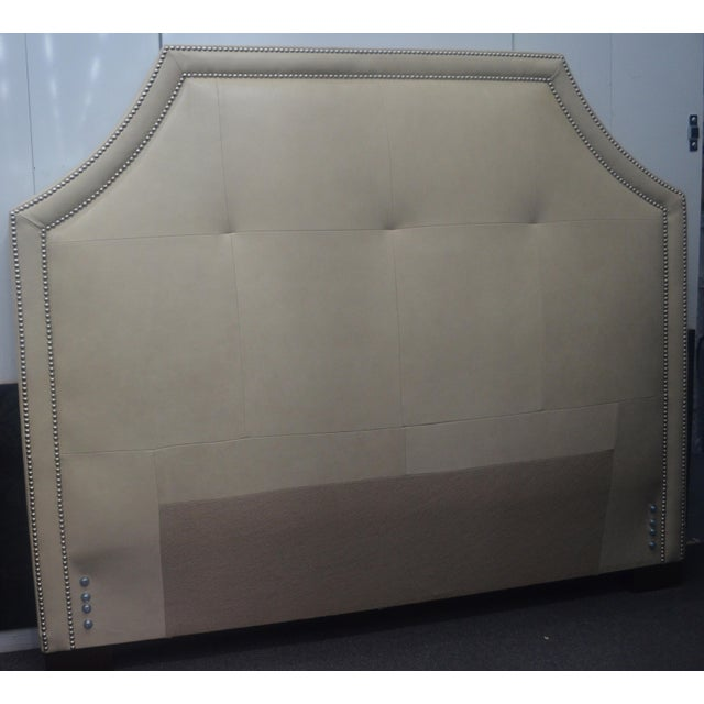 Stickley Leather Queen Headboard - Image 2 of 8