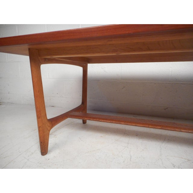 Wood Vintage Modern Walnut Coffee Table For Sale - Image 7 of 12
