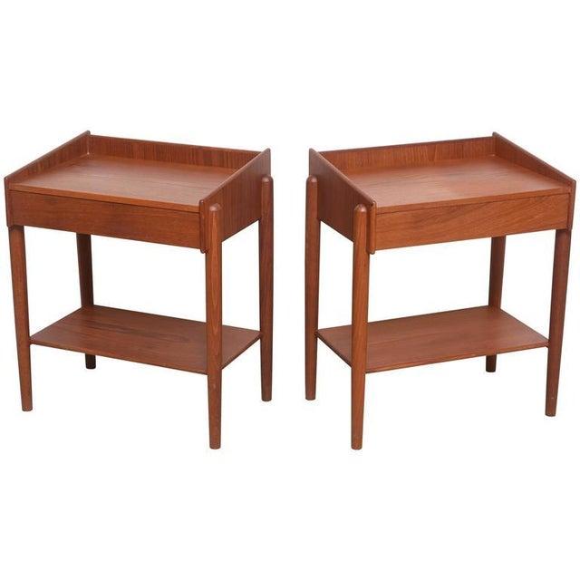 1960s Danish Teak Side Tables by Borge Mogensen for Soberg Moblefabrik - a Pair For Sale - Image 11 of 11