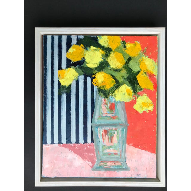 Impressionist Yellow Bouquet Framed Painting For Sale - Image 3 of 3