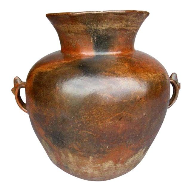 Antique Ceramic Florero Pot For Sale