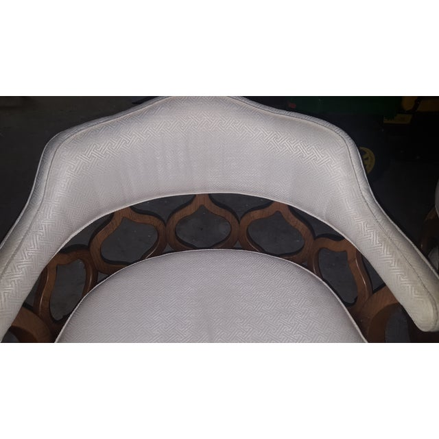Vintage Barrel Back Chairs - Pair - Image 8 of 8
