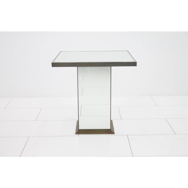 Fully Mirrored Side or End Table, France, 1970s For Sale - Image 4 of 8