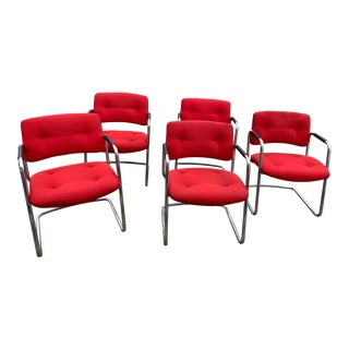 Vintage Steelcase Lounge Side Chairs - Set of 5 For Sale