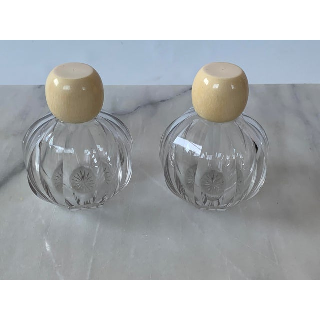 Early 20th Century Art Deco Cut Glass Cologne Bottles-a Pair For Sale - Image 5 of 5