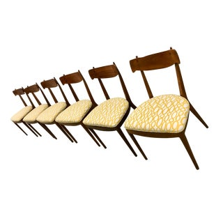 1960s Mid-Century Modern Kipp Stewart Drexel Declaration Dining Chairs - Set of 6 For Sale