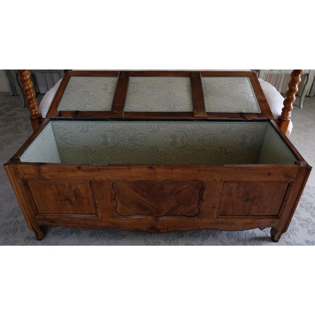 Brown 18th Century French Louis XIV Trunk For Sale - Image 8 of 12
