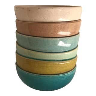 Multicolored Ceramic Stacked Bowl Style Planter