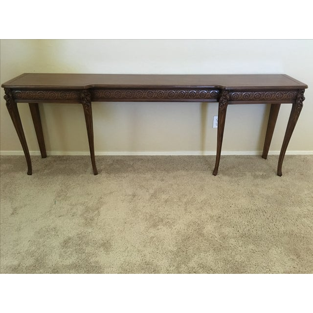 Carved Wood Buffet Table - Image 6 of 6