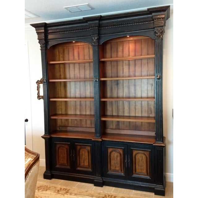 Library Cabinet - a Beautiful and Diverse Piece for Your Home or Office: Hooker Furniture Double Credenza & Double Bookcase (2 Pieces) For Sale - Image 13 of 13