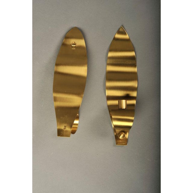 Brass Leaf Candle Sconces by Ystad-Metall For Sale - Image 10 of 10
