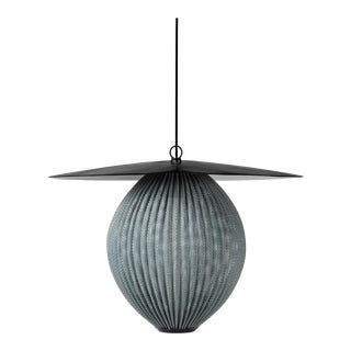 Mathieu Matégot 'Satellite' Pendant in Black and Gray Metal For Sale