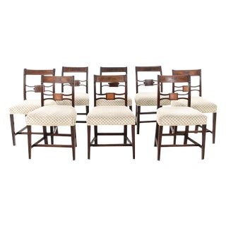 1790s George III Mahogany Dining Chairs - Set of 8