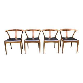 Danish Dining Chairs by Iw Hansen & Boll Jensen - Set of 4 For Sale
