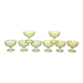 1950s Hazel Atlas Platonite Moderntone Sherbet Dishes - Set of 8 For Sale