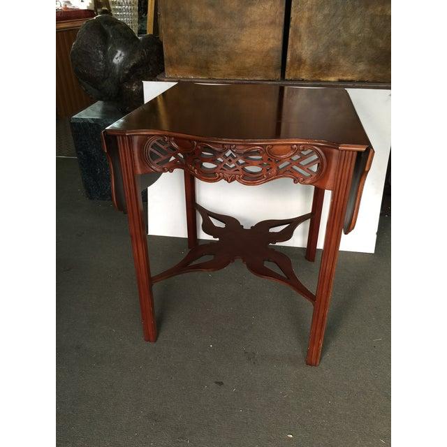 Baker Furniture Drop Leaf Table Pembroke Table Historic Charleston For Sale - Image 9 of 9