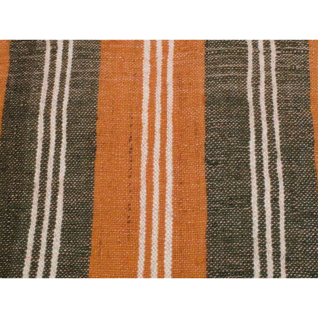 1970s Striped Cover For Sale - Image 5 of 6