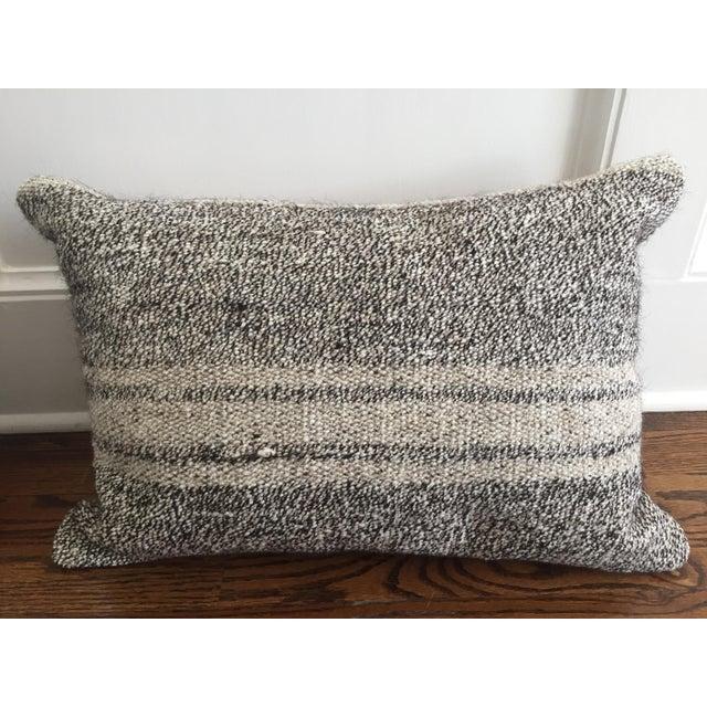 Ivory & Gray Kilim Pillows - A Pair - Image 4 of 5