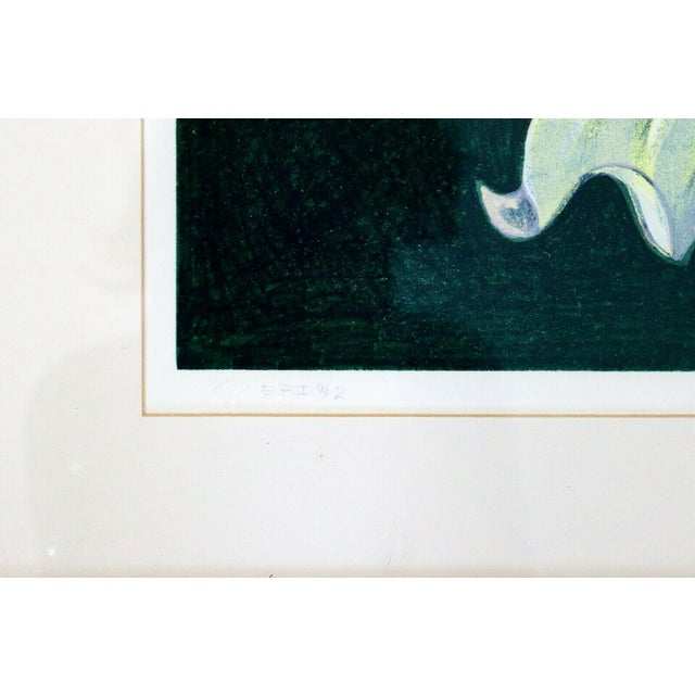 1970s 1970s Mid Century Modern Framed Lowell Nesbitt Hand Signed Lithograph Lily & Rose For Sale - Image 5 of 7