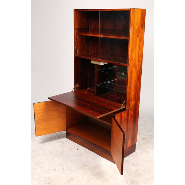 Retro 1970's Danish Rosewood Bar Cabinet - Image 3 of 4