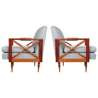 1950s Liceu De Artes E Oficios Pair of Caviuna Armchairs, Brazil - a Pair For Sale