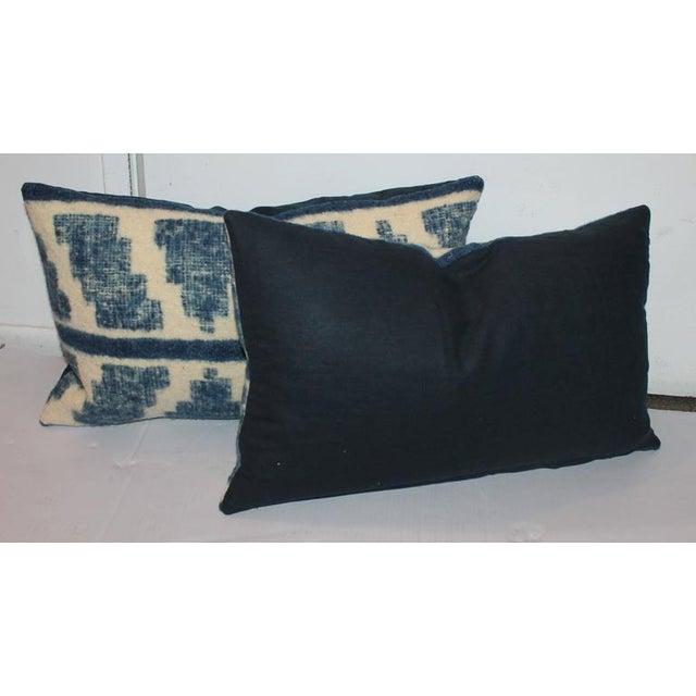 Rustic Pair of Handwoven Indigo Alpaca Pillows For Sale - Image 3 of 7