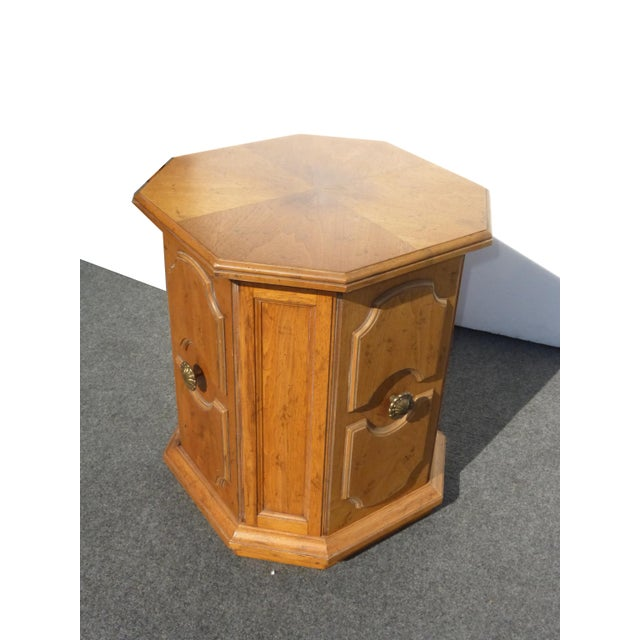 Brown 1960s Mid-Century Modern Drexel Heritage End Table For Sale - Image 8 of 9