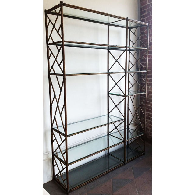 Mid-Century Regency Chippendale Wall Unit Etagere - Image 3 of 4