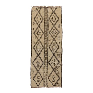 Mid 20th Century Beni Ourain Moroccan Rug 05'07 X 14'05 For Sale