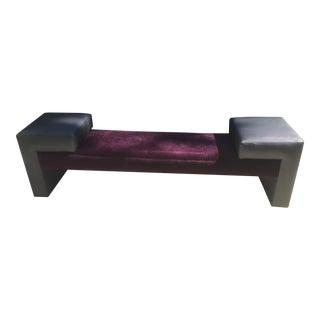 Custom Designed Purple Velvet Bench