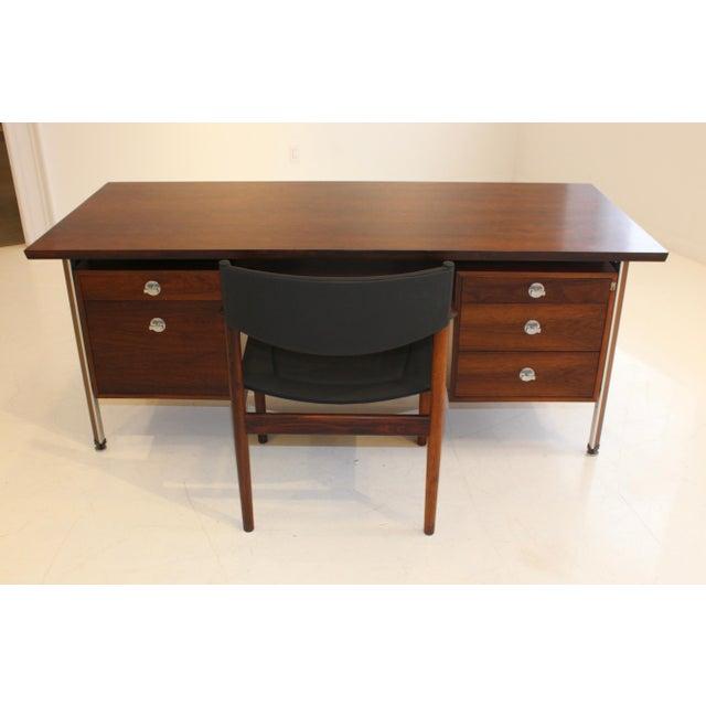 Finn Juhl Rosewood Executive Desk For Sale - Image 12 of 13
