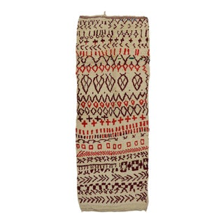 Vintage Berber Moroccan Azilal Rug - 05'02 X 13'05 For Sale