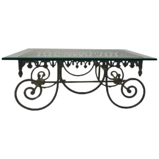 EXCEPTIONAL 19TH CENTURY WROUGHT IRON FRENCH BAKERS TABLE For Sale