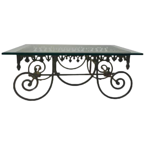 Charmant EXCEPTIONAL 19TH CENTURY WROUGHT IRON FRENCH BAKERS TABLE For Sale