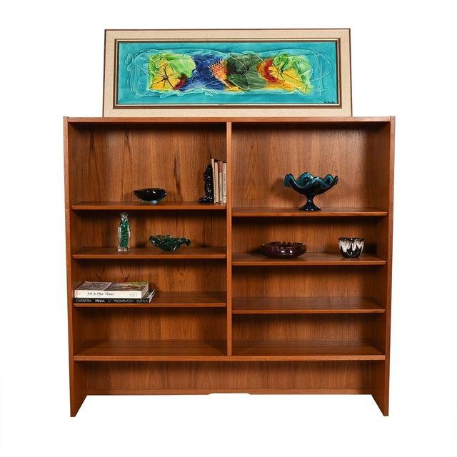 Danish Modern Teak Adjustable Bookcase / Display Cabinet Top For Sale In Washington DC - Image 6 of 7