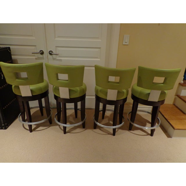 David Edward Barstools With Faux Leather Seats - 4 For Sale - Image 4 of 8