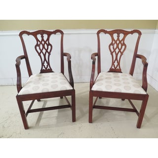 Chippendale Style Mahogany Dining Room Chairs - Set of 6 Preview