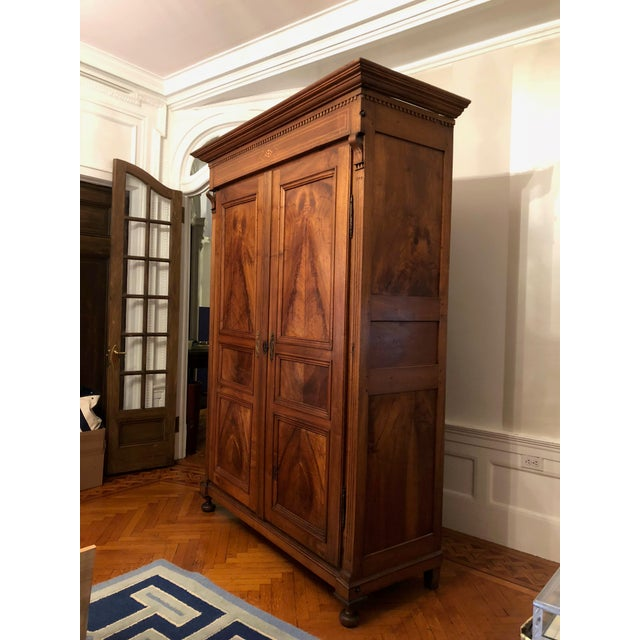 Mid 20th Century 19th Century Walnut Armoire For Sale - Image 5 of 13