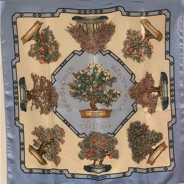 "Hermès ""Bonsai"" Vintage Silk Scarf For Sale In Greensboro - Image 6 of 6"