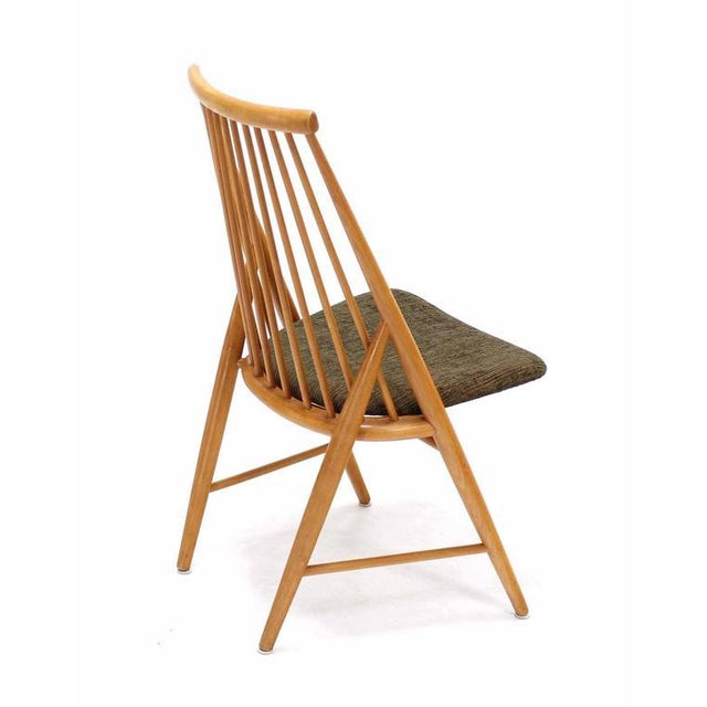 Early 20th Century Pair of Swedish Spindle Dowel Back Chairs For Sale - Image 5 of 10