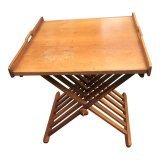 Stewart MacDougall Drexel Folding Tray Top Table For Sale