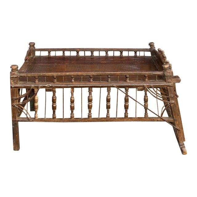 Early 20th Century Teak Jhoola Coffee Table For Sale