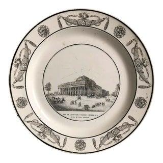 Comedie a Bordeaux Creil Decorative Plate For Sale